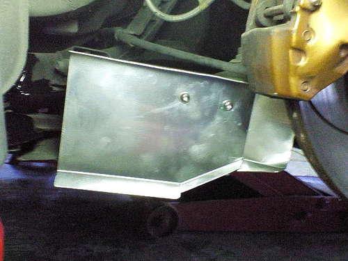リアブレーキ導風板